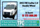2012 VW Crafter 2.0 Double Wheel - For Sale at TPC